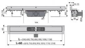 Водосточный желоб AlcaPlast APZ4 1050 мм с регулируемым краем APZ4-1050