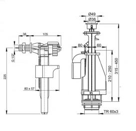 Выпускной механизм AlcaPlast с двойной кнопкой хром SA08A 1/2