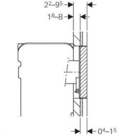 Защитная крышка Geberit Omega для скрытой системы смыва с монтажом заподлицо 115.087.00.1