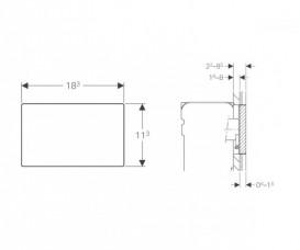 Защитная крышка Geberit Omega для скрытой системы смыва с видимой рамкой 115.088.00.1