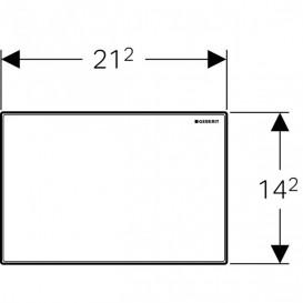 Защитная крышка окна доступа Geberit Omega белое стекло 115.082.SI.1