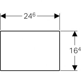 Защитная крышка окна доступа Geberit Sigma нержавеющая сталь 115.764.FW.1
