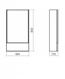 Зеркальный шкаф Kolo Nova Pro 46.4х85 серый ясень 88439000