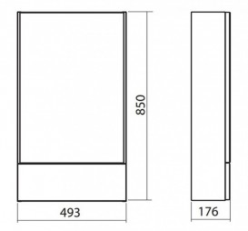 Зеркальный шкаф Kolo Nova Pro 49.3х85 серый ясень 88440000
