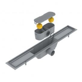 Желоб водосточный Volle 60 см с решеткой под плитку нержавеющая сталь 90-22-601