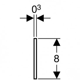 Звукоизоляционная лента Geberit Duofix 111.889.00.1